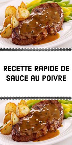 Sauce Au Poivre, Omelette, Polenta, Steak, Food And Drink, Yummy Food, Cooking, Snacks, Sauces