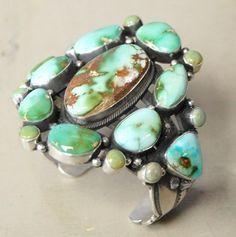 Royston Turquoise Bracelet by A Toadlena, Navajo.
