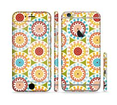 The Vintage Vector Color Circle Pattern Sectioned Skin Series for the Apple iPhone 6s Plus