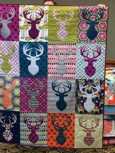 This is a killer quilt..... for a hunter, although I do like the colors - no camo here. - Crafting For Holidays