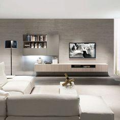 Mueble TV moderno / de olmo / de melamina Z409 ZALF