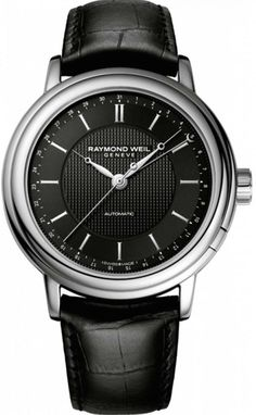 Raymond Weil Watch Maestro  bezel-fixed  bracelet-strap-leather  brand e00ab3ec64d