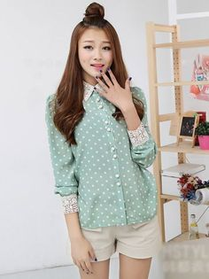Kawaii Clothing | Camisa Lunares / Dots Blouse 2WH288 | Online Store Powered by Storenvy