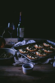 Sautéed Kale & Goat Cheese Crostini With A Balsamic Reduction by Eva Kosmas Flores | Adventures in Cooking