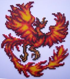 Mini Hama Beads - Phoenix by Alex7190.deviantart.com on @deviantART