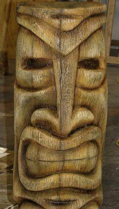 Tiki statue closeup by avalonsculpture, via Flickr