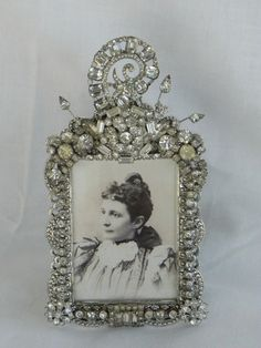 Vintage Jewel Clear Rhinestone Photo Picture by backthroughtime, $40.00