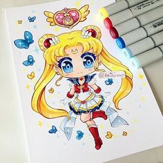 Chibi fanart of Super Sailor Moon! Sailor Moon has always been my favourite. Who is your favourite Sailor Moon character? Sailor Moon Fan Art, Sailor Moon Character, Sailor Moon Crystal, Kawaii Chibi, Kawaii Art, Kawaii Anime, Kawaii Drawings, Cute Drawings, Dibujos Anime Chibi