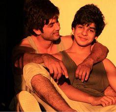 Shahid Kapoor with brother Ishaan