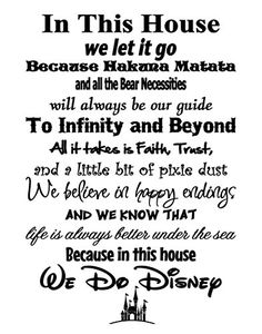 Simply Remarkable in This House We Do Disney - Poster Print Photo Quality - Made in USA - Disney Family House Rules - Ready to Frame - Frame not Included White with Stars Background) Disney Family, Disney Love, Disney Art, My Happy Ending, Happy Endings, Star Background, Black Picture Frames, Disney Posters, In This House We
