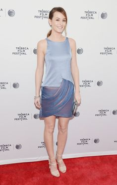 Pin for Later: Michelle Williams's Dress Is Just One of Her Job's Many Perks Leighton Meester Leighton Meester at the Tribeca Film Festival premiere of Life Partners.