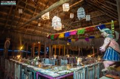 Mexican wedding dinner set up at El Pez Tulum Hotel in Mexico by Diego Muñoz Photography #weddingphotography #tulumwedding