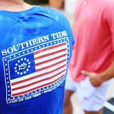 It's no mystery that America is the greatest country in the world; and it's no secret that Southern Tide makes the softest tees in the world. Show off the red, white and blue in this tee that every president would wear. Shop link in bio!  @southerntide #USA #SouthernTide
