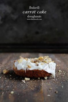 baked carrOt cake doughnuts with pineapple cream cheese frosting