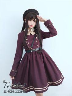 Tomy Bear -Joshua- Military Lolita OP Dress