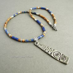 Sodalite and Picture Jasper Necklace with by mamisgemstudio, $39.95
