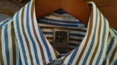 Ruehl Mens Stripe Shirt sz Large Extra long Sleeve
