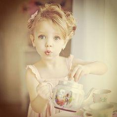 Little Madame Shou Shou  #cute #romantic #retro #vintage #girl #tea #teaparty #pink #dress