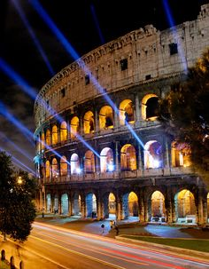 The #Coliseum & Lights,  #Rome_Hotel ~ http://VIPsAccess.com/luxury-hotels-rome.html