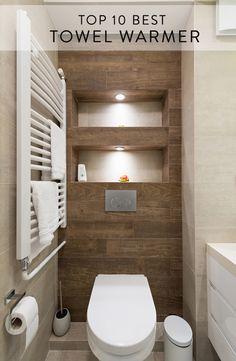 Interior of a small bathroom towel warmer stock photo - 78362872 Small Full Bathroom, Warm Bathroom, Small Sink, Narrow Bathroom, Laundry In Bathroom, Bathroom Towels, Modern Bathroom, Bathroom Ideas, Towel Warmer