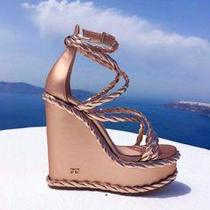 bellagiornatta !!!! #dukas #greek #handmade #summer Hot High Heels, Wedge Sandals, Summer Sandals, Classy Dress, Girls Shoes, Shoes Heels, Wedges, Cool Stuff, Stylish