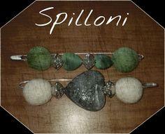 Spilloni con perle di lana cotta e cuori