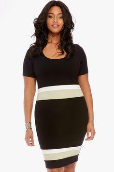 1/4/16  Brand/Designer: Fashion To Figure Embellishments: Colorblocking Size Category: Plus Size Available Colors: Black