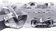 """573 curtidas, 1 comentários - CarDesign.ru (@cardesign.ru) no Instagram: """"Roborace autonomous racing car official sketches by Daniel Simon (@danielsimondesign)  #cardesign…"""""""