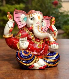Statue Ganesha Ganesh Hindu Lord God Religious Idol Success Sculpture Gift Deco