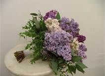 Lavender and white wedding bouquet ideas and inspiration for your big day. A bridal bouquet made up of lavender roses, two-toned calla lil. Fern Bouquet, Lilac Bouquet, Hydrangea Bouquet Wedding, Lilac Wedding, White Wedding Bouquets, Wedding Flowers, Dream Wedding, Lavender Weddings, Eucalyptus Bouquet