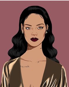 Rihanna Drawing... drawing Pinterest Cartoon