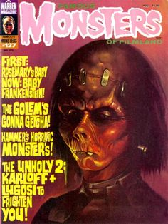 Monster Magazine Galleries: Famous Monsters of Filmland 127 Cover Art by Ken Kelly Horror Fiction, Fiction Movies, Sci Fi Horror, Horror Comics, Science Fiction, Horror Films, Horror Art, Turner Classic Movies, Classic Horror Movies