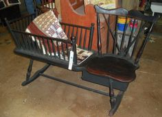 Rocking Chair And Cradle In One Fat Boy 88 Best Cradles Mammy Benches Images Antique Furniture It S Called A Bench Was Rocker With Seat For The