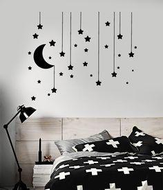 Bedroom Wall Designs, Wall Decals For Bedroom, Wall Stickers Home, Vinyl Wall Decals, Bedroom Stickers, Diy Stickers, Cute Room Decor, Room Wall Decor, Diy Wall Decor