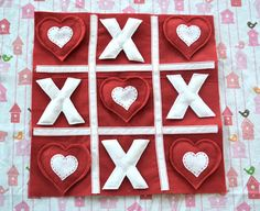 Easy Vday tic tac toe game - for the girls?