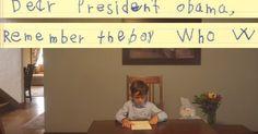 Bức thư cậu bé 6 tuổi gửi Tổng thống Obama gây xúc động
