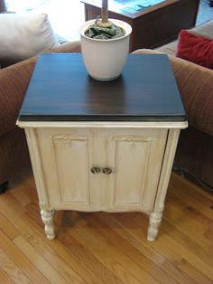 One blogger's idea on how to get the French Country furniture LOOK without paying for the expensive chalk paints...Hmmmmmm