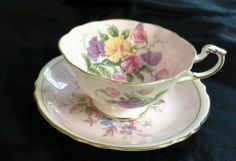Vintage Paragon Fine Bone China England CUP AND Saucer Pink TO HER Majesty | eBay