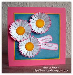 Flower Sparkle: Daisy Trio Happy Birthday Card - Simply Stampin' Challenge #71