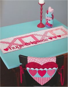 Table Please Quilt Book - Table Runner Patterns - Nancy Halvorsen - Art to Heart - DIY Easter Decorations - Summer Craft Projects - DIY Table Runner - Handmade Gifts - Easy Sewing Projects - Fabric Birthday Cake Pattern - Shabby Fabrics