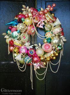 """Pink Pearl 17"""" $250 ©Glittermoon Vintage Christmas 2014"""