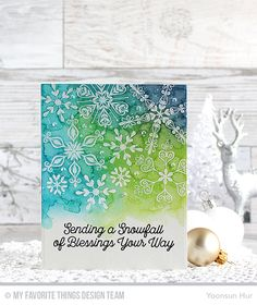 Hello crafty friends! It's Time! The Snowflake Sparkle Card Kit is now available in the MFT Store!! Snowflake Sparkle Card Kit Simply Snowflakes Stamp Set Snowfall of Blessings Stamp Set Simply Sno…