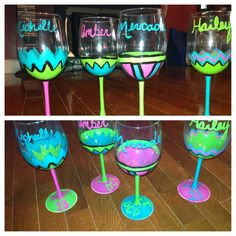 I really want to have a wine drinking / wine glass painting party! AAAHHH!