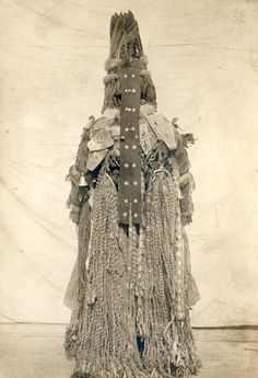 """eurasian-shamanism: """" Photographs of a Tofalar shamaness showing the front and back of her outfit """""""
