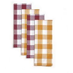 Pioneer Woman Charming Check Kitchen Towels, Set of 4 - Walmart.com