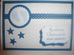 Karte zur Geburt (128) von Sandelinchens Kartenzauber auf DaWanda.com