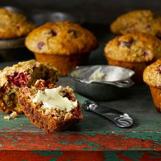 Cranberry Orange Bran Muffins - These are fantastic! I used a sugar replacement. Cranberry Orange Muffins, Cranberry Recipes, Orange Recipes, Fall Recipes, Bran Muffins, Baking Muffins, Muffins Aux Canneberges Et Oranges, Love Eat, Love Food