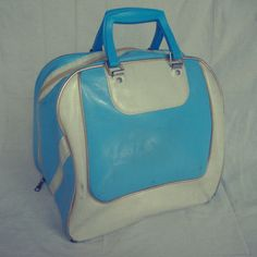 Vintage Retro Blue Bowling Bag by HeatherVintage88 on Etsy, $32.00