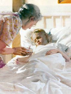 """Harry Anderson (1906 – 1996, American) """"A Way With Boys"""""""