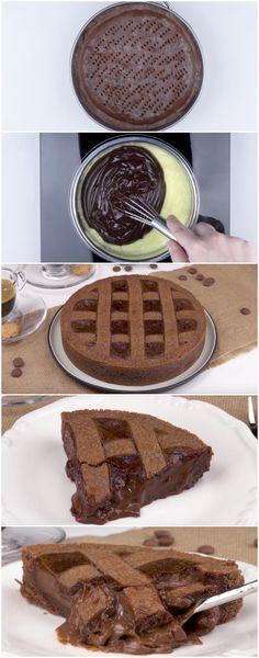 TORTA DE CHOCOLATE CREMOSONA! Eu amo essa receita… é impossível não amar! (veja o passo a passo) #torta #tortadechocolate #chocolate #tortacremosa